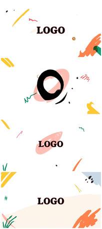 简洁卡通动画logo宣传片头视频模板