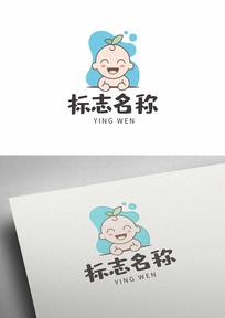 卡通婴儿宝宝儿童母婴标志logo