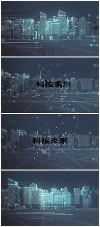 科技城市片头视频模板