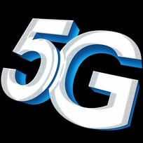 蓝色科技5G立体字