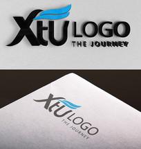蓝色企业IT互联网logo