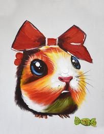 高清卡通米老鼠油画无框画