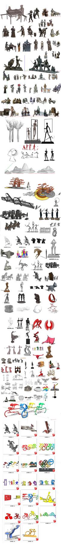 广场雕塑模型