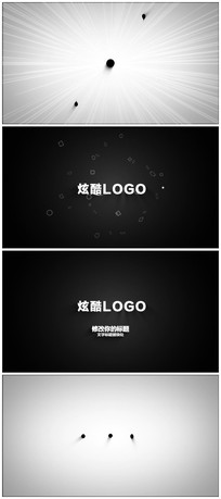 炫酷卡通动画logoAE模板