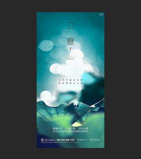 立夏创意节气海报