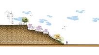 山脉挡墙断面剖面图