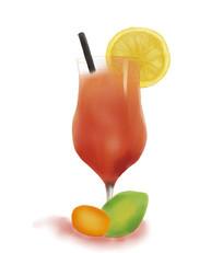 手绘西瓜汁夏季冷饮美食插画