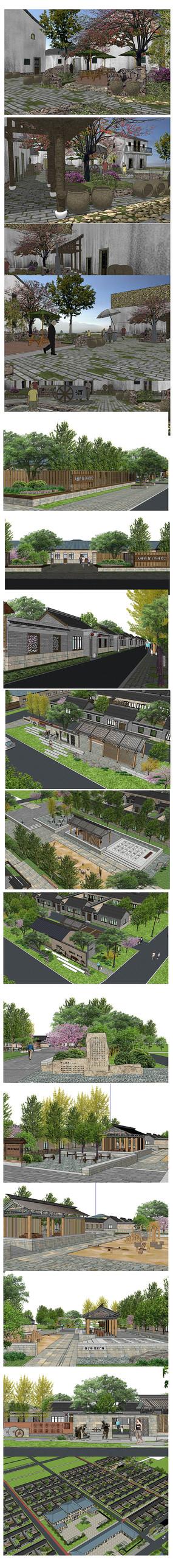 新農村建筑模型
