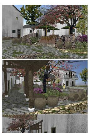 新农村建筑模型