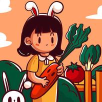 原创十二生肖之兔子女孩