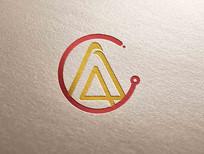 字母A标识设计