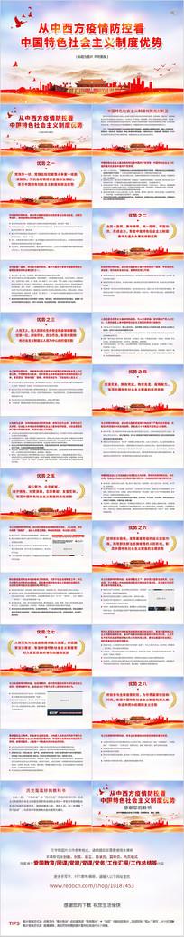 从中西方疫情防控看中国制度优势PPT