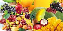 高端大气绿色水果店宣传海报