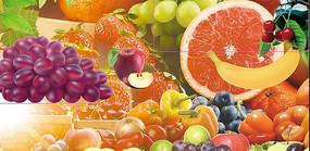 高端大气绿色水果蔬菜宣传海报
