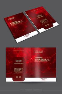 红色科技企业封面素材
