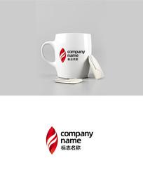 现代时尚火焰跃动中国红LOGO