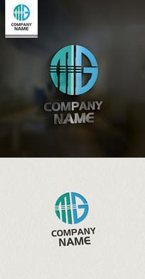 MG字母LOGO设计