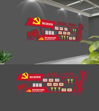 大气党建荣誉墙设计