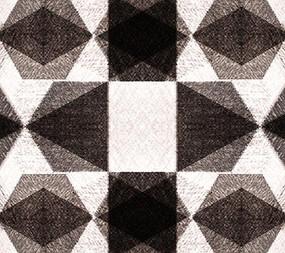 歐式大氣黑白幾何格子背景墻