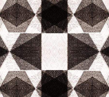 欧式大气黑白几何格子背景墙