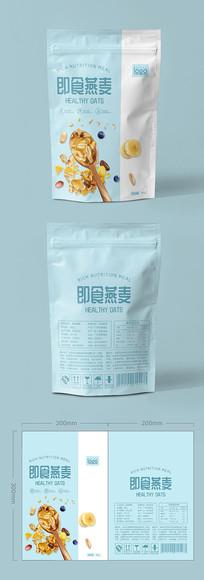 营养粉麸皮燕麦包装设计