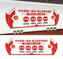 中华民族团结文化墙设计
