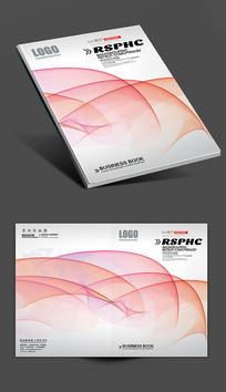 炫彩线条封面设计模板