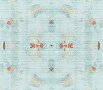 高端大气清新花卉地毯背景墙