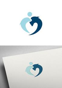 简约海豚海洋图形LOGO