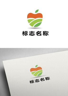 简约农业苹果果园标志logo设计