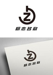 简约字母JZ组合标志logo