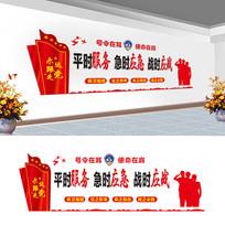 民兵之家文化墙设计
