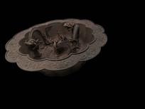 清朝青铜雕刻品