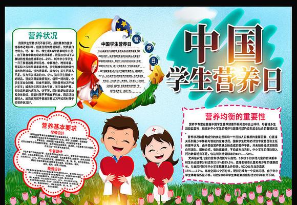 520中国学生营养日手抄报设计