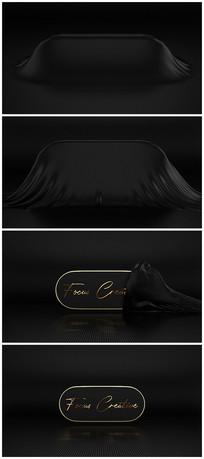 暗黑拉布展示金色文字logo视频模板