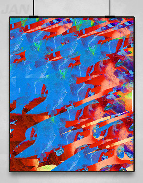 彩色抽象装饰画
