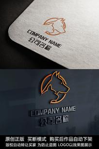 创意猫狗logo标志设计