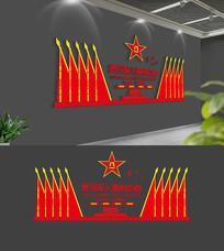 红色退役军人服务中心部队文化墙