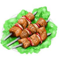 深夜美食烤肉串