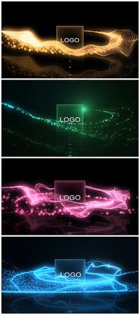 唯美光束粒子展示logo片头模板