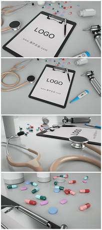 医疗设备展示logo片头模板