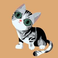 原创卡通小猫咪