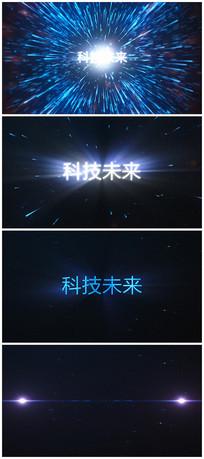 震撼粒子爆炸出logo片头视频模板