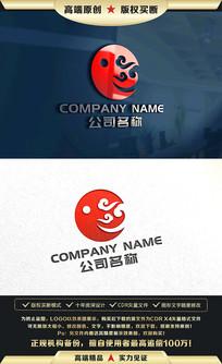 中国风古典祥云标志LOGO设计