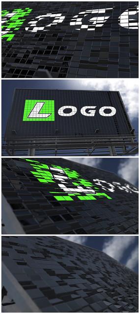 广告牌logo片头视频模板