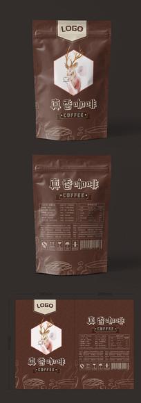 简约风格咖啡豆包装设计