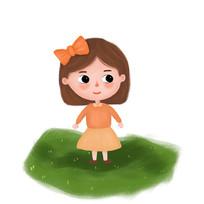 可爱小女孩
