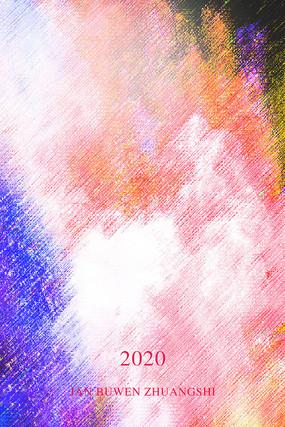 拉丝彩色装饰画