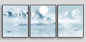 雪山风景室内装饰画
