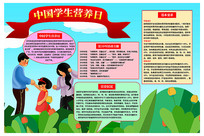 中国学生营养日手抄报